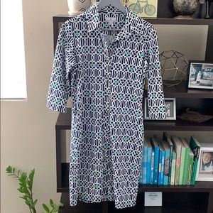 Jude Connelly Button Up 3/4 Sleeve Dress Medium